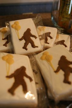 Bigfoot Sasquatch Cookie by Color Me Cookies