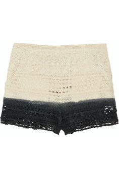 No Pattern. Crocheted Shorts.