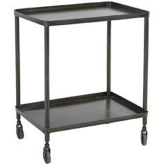 black serving cart: Hanjel