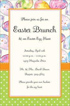Easter Mix Invitations