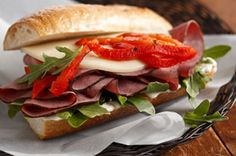 Garlic & Herb Antipasto Sandwich recipe