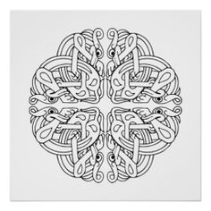 Celtic Mandala Poster, art quality
