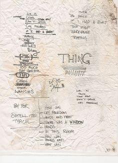 Dave Matthews and Tim Reynolds Cornell 99 setlist | doodle, cheat sheet, do to list - jot it down