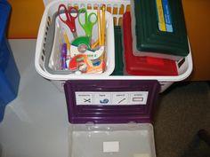 Packaging school supplies work task