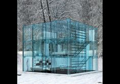 Definitely the most unusual design I've seen yet!  Glass Home By Santambrogio Milano, Italy