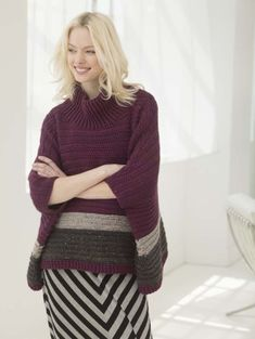 Soho Poncho - free crochet pattern from Lion Brand