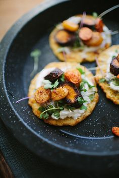 Chickpea Pancakes with Smoky Roasted Carrots
