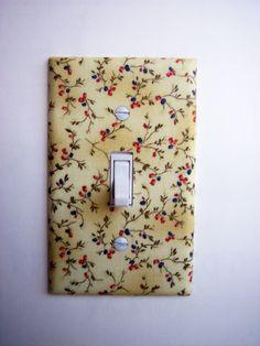 decor, switch plates, summer floral, floral sprig, singl toggl, outlets, sprig singl, toggl switchplat