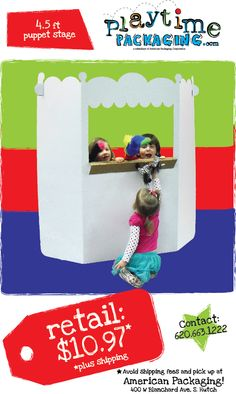 $10.97 plus shipping for this 4.5' puppet stage! Imagine beyond the box.