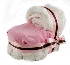 Too cute...bassinet diaper cake!