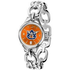 Auburn Tigers Ladies Stainless Steel Eclipse Open Link Watch