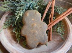 Blackened Beeswax Gingerbread Guy by farmfieldprimitives on Etsy, $5.00