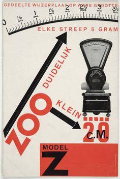 Paul (Geert Paul Hendrikus) Schuitema. Model Z, zoo duidelijk zoo klein, elke streep 5 gram (Model Z, So Clear So Small, Every Dash 5 Grams). 1928