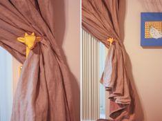 Giraffe Home {away from home} Yellow Giraffe Curtain Holdbacks
