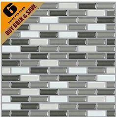 3d gel tiles 6 pcs x diy self adhesive metallic mosaic