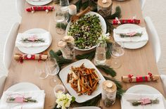 Black quinoa & kale salad and cinnamon roasted vegetables by Green Kitchen Stores. The perfect #Swedish #Christmas spread.