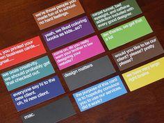 Conversation business cards