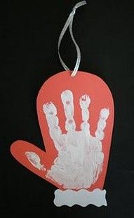handprint mitten for Winter Lesson