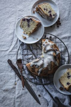 Local Milk | blueberry, buttermilk, & rosemary brown butter cake + velo coffee