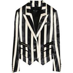 Balmain Striped jacquard blazer