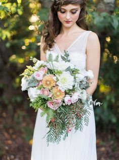 """Big and beautiful bouquet  """"Enchanted Forest"""" – Ethereal Autumn Wedding Inspiration"""