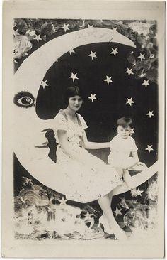 vintage paper moon