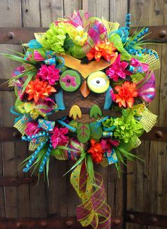 Hoot Owl wreath by WilliamsFloral on Etsy, $105.00