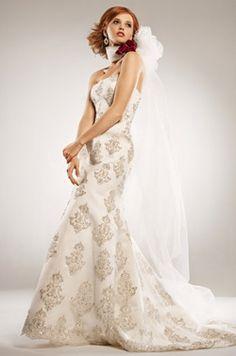 Vestido de novia beige