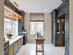 greige: interior design ideas and inspiration for the transitional home : Beautiful Butler's Pantry...
