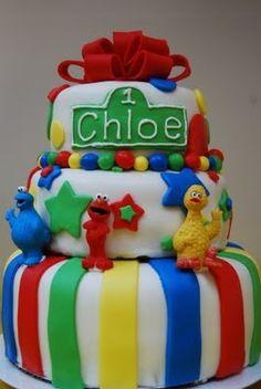 Sesame Street Birthday Cake street birthday, birthday parties, birthday idea, first birthdays, sesam street, boy birthday, 2nd birthday, cake recipes, birthday cakes
