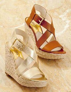 Michael Kors woman fashion, summer sandals, accessori, comfortable shoes, summer shoes, michael kors, spring summer, wedg, closet