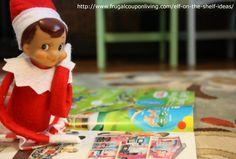 Elf on The Shelf Ideas – Elf Checks Out the Toy Catalog #theelfontheshelf #elfontheshelf #elfontheshelfieas