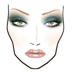 cosmet face, mac face charts, bridal beauty, blue, mac makeup face charts