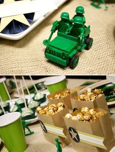 "GREEN ARMY MEN"" birthday party"