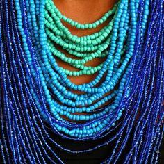 fun color, fashion, beaded necklaces, colors, combin color