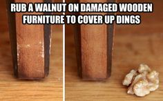 Clever little tip for scratched up wood