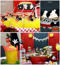 Mickey's Magic Land Mickey Mouse Party Full of Cute Ideas via Kara's Party Ideas   KarasPartyIdeas.com #MickeyMouse #PartyIdeas #Supplies (1)