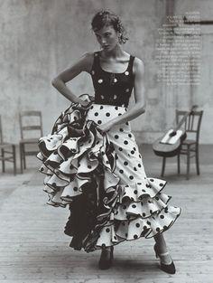 flamenco vogue, fashion, flamenco, polka dots, polkadot, dress, danc, spain, vintage style