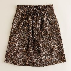 Metallic sequined bell skirt