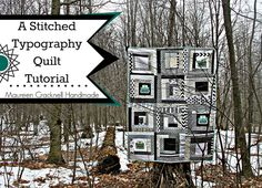 A Stitched Typography Quilt Tutorial by maureencracknell