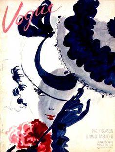 vintage cover of Vogue: vintage cover of Vogue