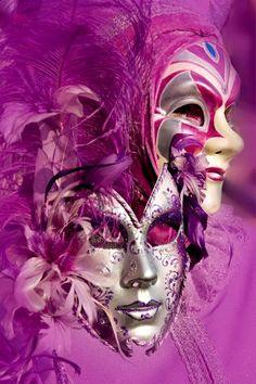 Radiant Orchid Venice Masks