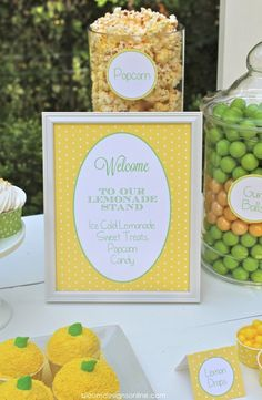 Party Printables! You have to see the Lemonade Stand. So cute! lilluna.com