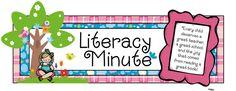 Literacy Minute