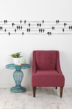 Anne Cahsens Birds on a wire wall decal $49.00