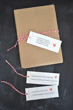 Teacher gift tags {printable} | @artbarblog