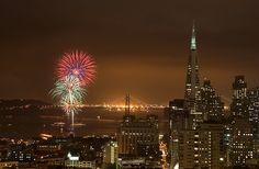 Fireworks at the San Francisco Bay