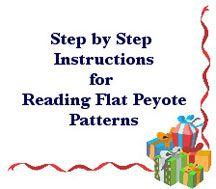 Free Tutorial: Reading Peyote Patterns: Flat Peyote