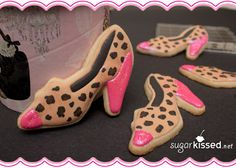 DARLING leopard cookies!  Google Image Result for http://sugarkissed.net/wp-content/uploads/2012/05/leopard-print-shoe-cookies.jpg