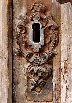 Old Rusted Keyhole...